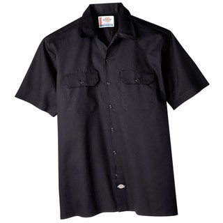 Dickies WS574BK Black Men's Short Sleeve Work Shirt