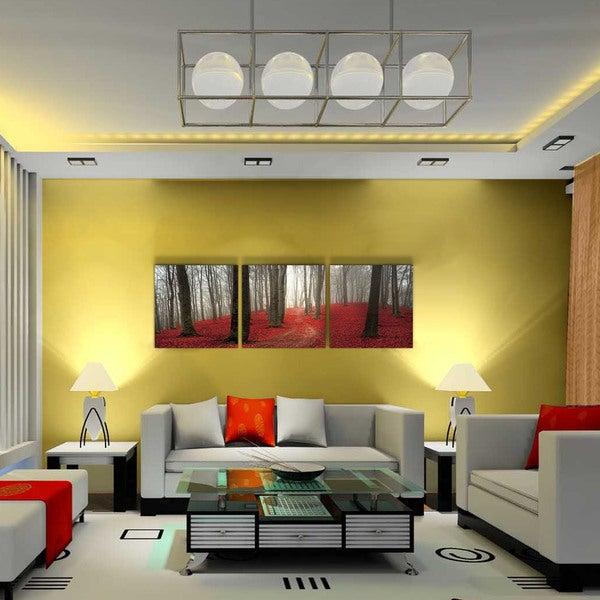 Shop Furinno SENIC \'Dawn Forest\' 60-inch x 20-inch 3-panel Wood ...