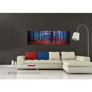 Furinno Senic 'Enchanted Forest' 60-inch x 20-inch 3-panel Wood-framed Canvas
