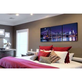 Furinno SENIC NYC The City Never Sleeps 60-inch x 20-inch 3-Panel Canvas on Wood Frame|https://ak1.ostkcdn.com/images/products/12859224/P19621599.jpg?impolicy=medium
