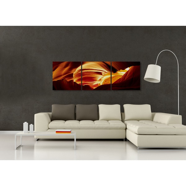 Furinno SENIC Antelope Caves Canvas on Wood 60-inch x 20-inch 3-panel Frame