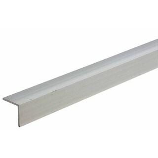 "M-D 60863 1-1/2"" X 48"" Mill Aluminum Equal Leg Angle Bar Stock"