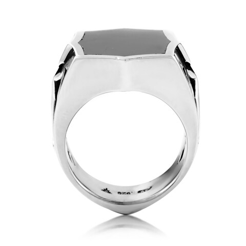 Stephen Webster Sterling Silver Hematite Men's Signet Ring