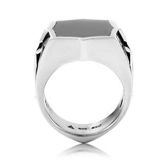 Stephen Webster Sterling Silver Hematite Men's Signet Ring