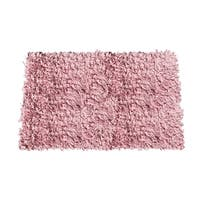 Jersey Cotton Shaggy Hand-knotted Light Pink Area Rug (5' x 8')