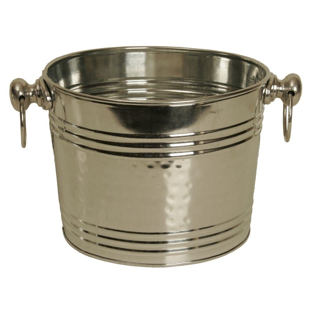 WALD Imports Silver Galvanized Tin Beverage Bucket/ Pail/...