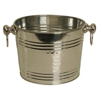Wald Imports Silver Galvanized Tin Beverage Bucket/ Pail/ Tub