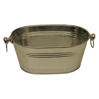 Wald Imports Silver Galvanized Tin Beverage Bucket/ Pail/ Tub