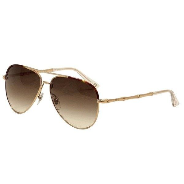 fdc5ce196e0 Shop Gucci Womens GG4276 S 0DDB Aviator Sunglasses - Free Shipping ...