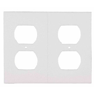 M-D 87916 6-ct White GFCI Outlet Plate Sealers