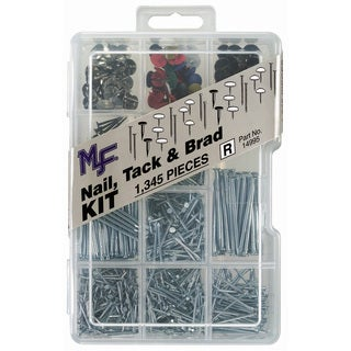 Midwest Fastener 14995 Nail, Tack, and Brad Assortment Kit