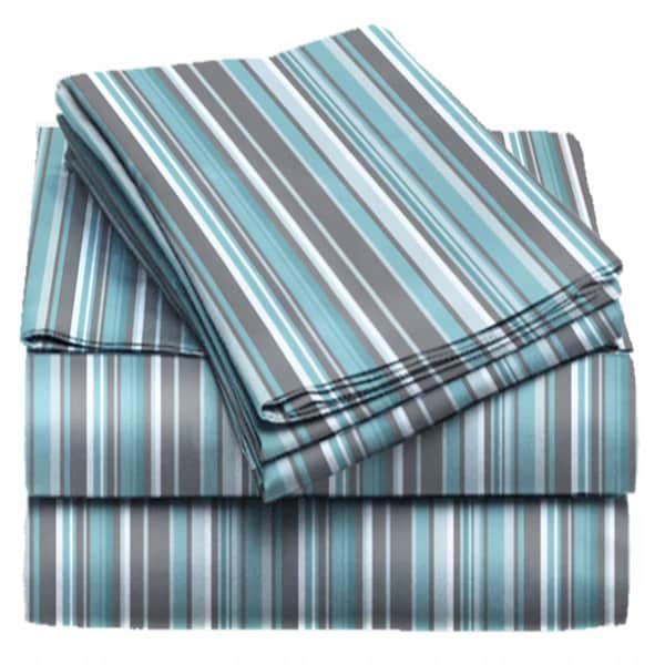 Exquisite Collection Microfiber Striped Sheet Set