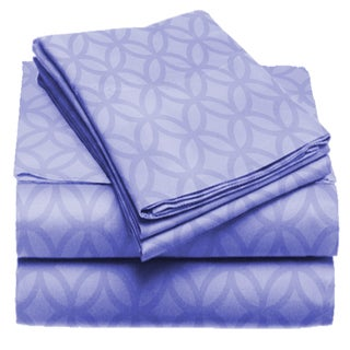 Exquisite Collection Microfiber Geometric Rings Sheet Set