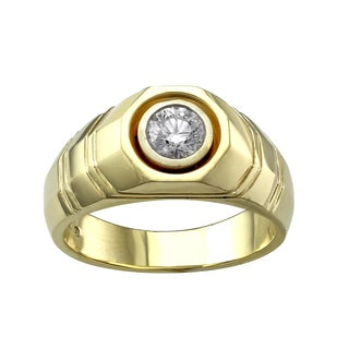 Beverly Hills Charm 14K Yellow Gold Men's 3/4ct TDW Diamond Ring (H-I, SI2-I1)