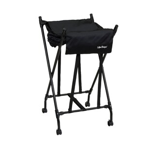 Lifter Hamper Black Fabric/ Plastic/ Metal Laundry Hamper
