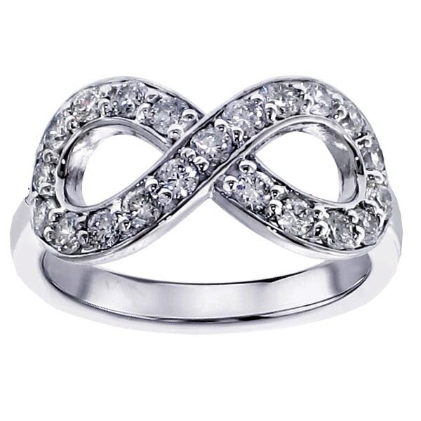 Infinity Platinum: Shop Platinum 5/8ct TDW Diamond Infinity Anniversary Ring