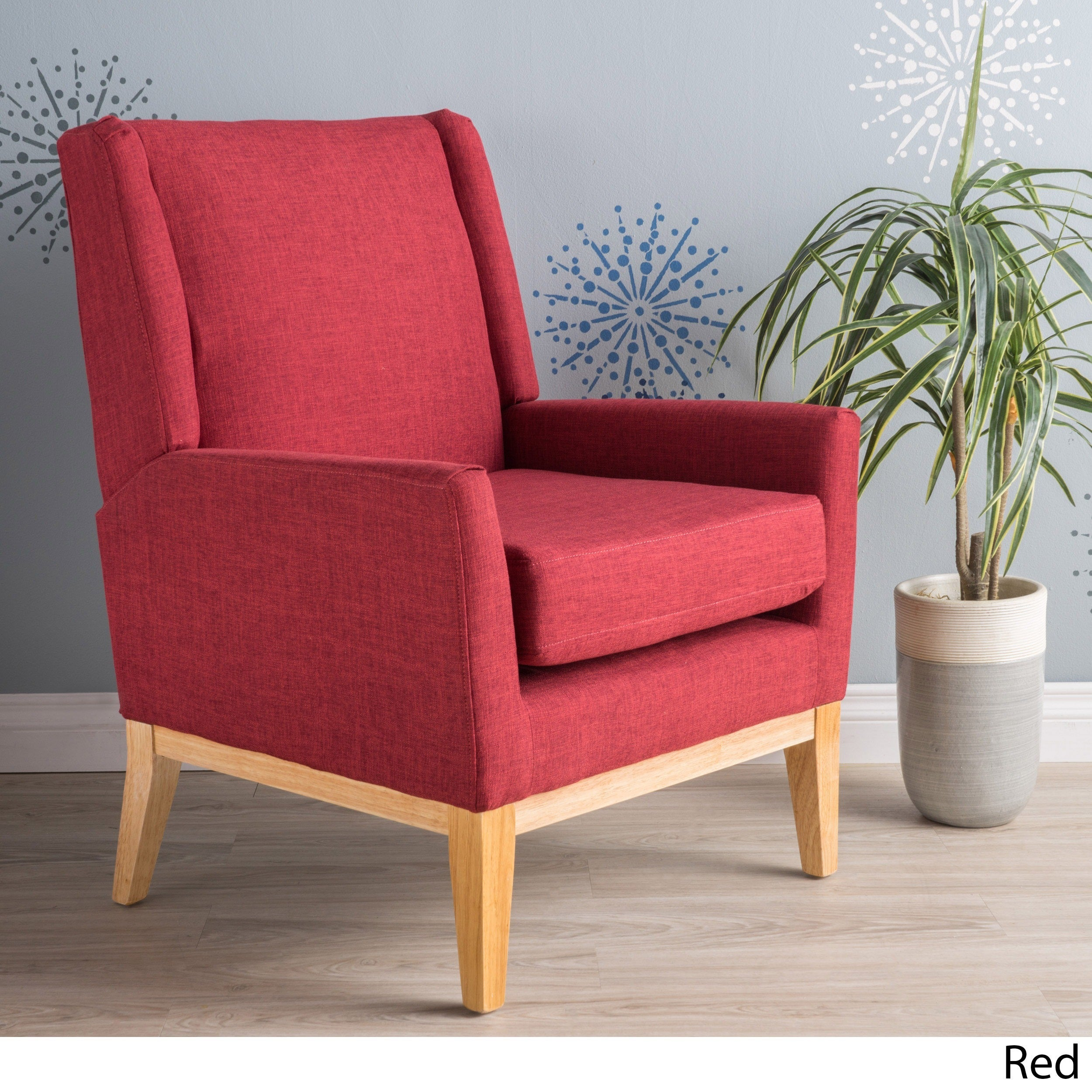 Futuristic Red Pattern Accent Chair Decoration Ideas
