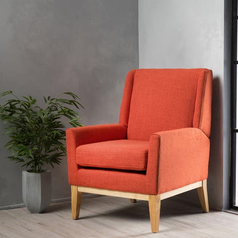 Aurla Mid-Century Fabric Accent Chair by Christopher Knight Home