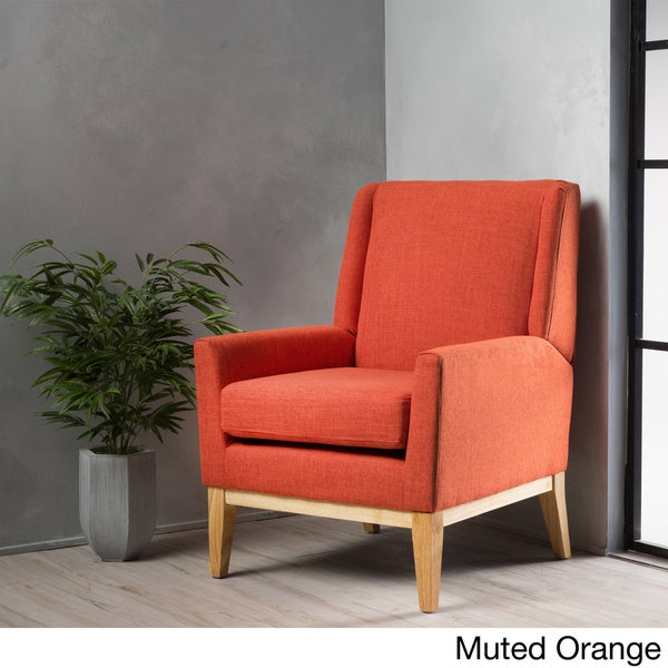 aurla midcentury fabric accent chair by christopher knight home free shipping today