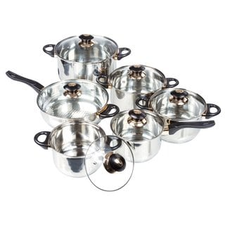 Chef Quality Stainless Steel Dutch Oven Fry Pan Cooking Set (12-piece Set)