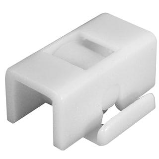 "Prime Line G3065 13/32"" White Plastic Flat Edge Roller Assembly 2-ct"