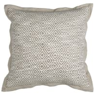 Kosas Home Barkley Ivory and Natural Cotton 18-inch x 18-inch Throw Pillow