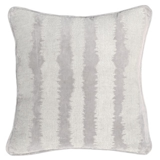 Kosas Home James Silver/Grey Cotton Velvet 18-inch Feather- and Down-filled Pillow