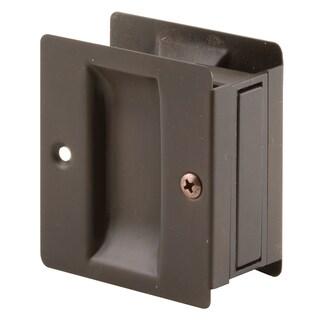 "Prime Line N7318 1-3/8"" Bronze Plated Pocket Door Pull"