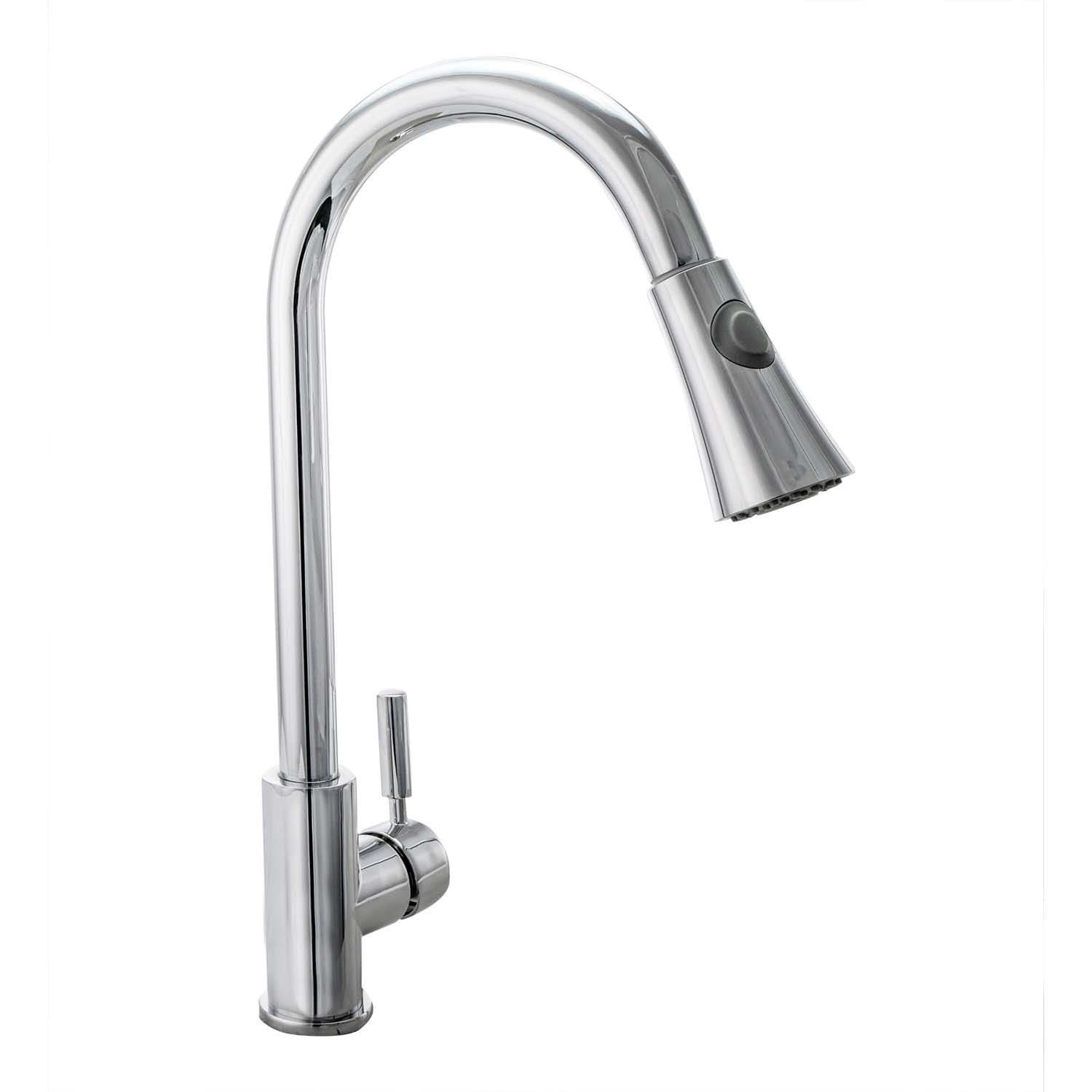Cosmo Single-Handle Pull-Down Sprayer Kitchen Faucet with Ceramic Disc  Cartridge in Chrome