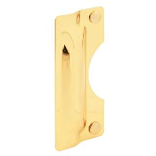 "Prime Line U9502 3"" X 7"" Brass Plated Steel Latch Shield"