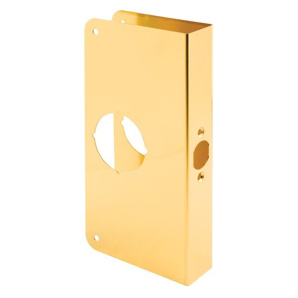 Prime Line U9547 Solid Brass Lock & Door Reinforcer