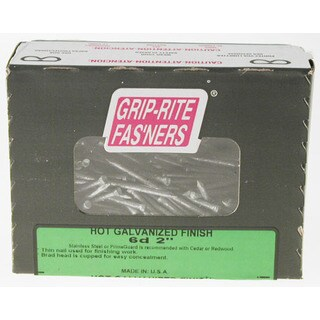 "Grip Rite 6HGF1 1 Lb 2"" Hot Dipped Galvanized Smooth Shank Finish Nail"