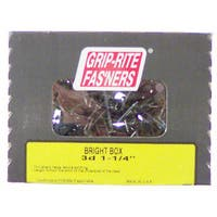 "Grip Rite 8BX1 1.050 Lb 2-1/2"" Bright Smooth Shank Box Nail"