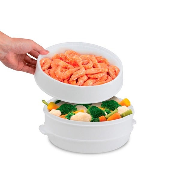4063a305b8 Shop Imperial Home Food Steamers 2-tier Vegetable Fish Microwave Steamer Cooker  - Free Shipping On Orders Over  45 - Overstock.com - 12860767