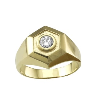 Beverly Hills Charm 14k Yellow Gold Men's 1/2ct TDW Diamond Ring (H-I, SI2-I1)