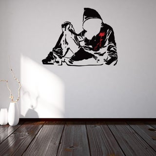 Banksy 'Bloody Hoodie With Knife' Vinyl Sticker/Mural/Wall Decal Home Art Decor