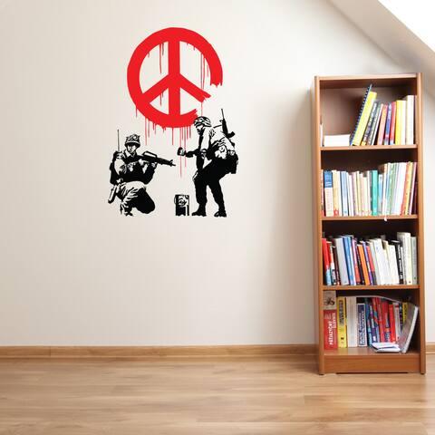 Propaganda Banksy Vinyl Wall Decal, Sticker, Mural Art Home Decor