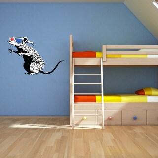 Banksy 'Rat With 3D Glasses' Vinyl Wall Art