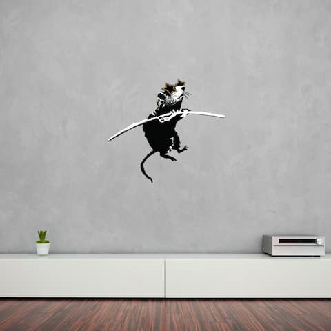 'Acrobat Rat with Shades' Banksy Vinyl Wall Decal, Sticker, Mural Art Home Decor