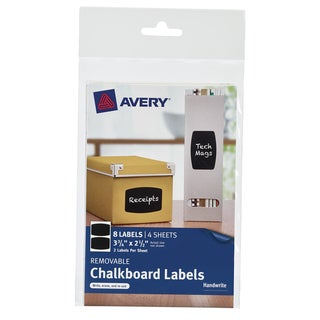 "Avery 73301 2-1/2"" X 3-3/4"" Black Removable Chalkboard Labels"