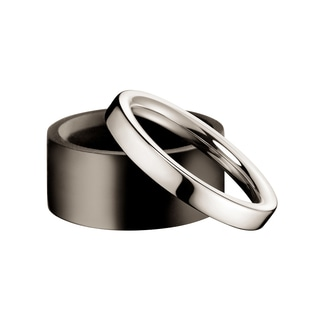 Calvin Klein Women's Ebony Sterling Silver/Ebony Wood Fashion Ring