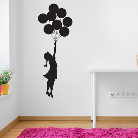 Style and Apply 'Flying Balloon Girl' by Banksy Vinyl Wall Decal