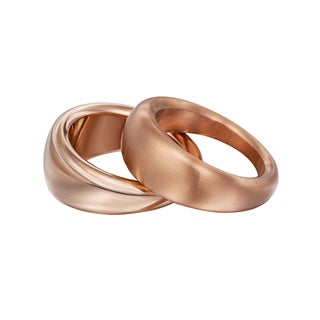 Calvin Klein Yoyo Stainless-steel Rose Gold PVD-coated Women's Fashion Ring