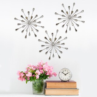 Stratton Home Decor 'Acrylic Burst' Wall Decor (Set of 3) - 10 x 1.5 x 10