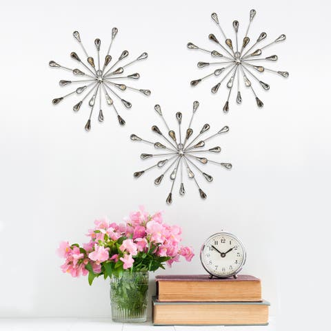 Carson Carrington Arsta 'Acrylic Burst' Wall Decor (Set of 3)