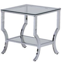 LYKE Home Chic and Modern Mirrored End Table