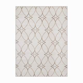 Plaza Brazil Grey Olefin Geometric Area Rug (7'10 x 10'6)
