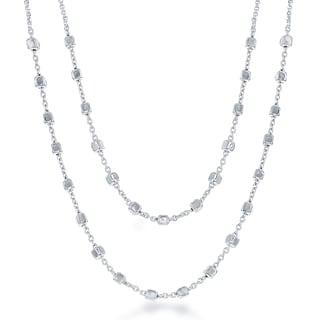 La Preciosa Sterling-silver Double-strand Square Beads Necklace