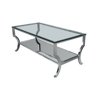 Lyke Home Chic and Modern Glass Coffee Table