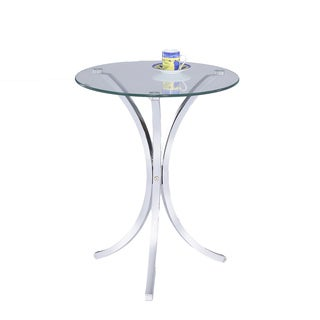 LYKE Home Chrome End Table